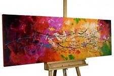 Acryl Gemälde 'ABSTRAKT BUNT' | HANDGEMALT | Leinwand Bilder 150x50cm