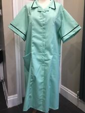 BNWT Burnlea Nurses Carers Work Uniform Dresses in Lime With Green Trim Size 26