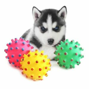 Teeth Cleaning Puppy Funny Pet Toys Squeaky Sound Dog Chew Ball Soft Rubber