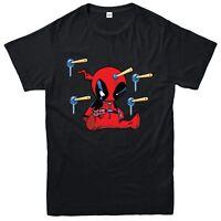 Baby Deadpool T-Shirt, Marvel Comics Superhero Inspired Tee Top