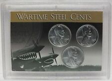 1943 P D S Wartime Steel Cents Lincoln Wheat Cents Set WWII Coinage 1c