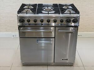FALCON DELUXE 90CM DUAL FUEL RANGE COOKER IN STAINLESS STEEL  A647