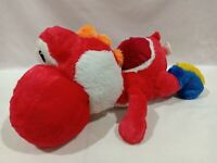 Super Mario Lying RED Yoshi Yossy Nesoberi Kuttari Plush Toy Taito Japan 19""