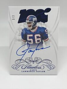 2019 Panini Flawless LAWRENCE TAYLOR ON-CARD AUTO #3/3 SSP eBay 1/1, *KB