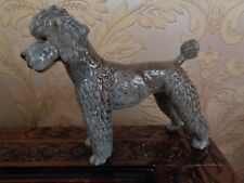 Goebel Standard Poodle Figurine Silver Blue CH 620 Dated 1968