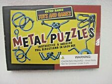 NEW IN BOX RETRO RANGE TOYS AND GAMES 6 METAL PUZZLES BRAIN TEASERS