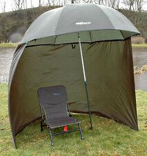 """88"""" 2.2m delux bison top inclinable pêche parapluie brolly abri avec zip sur les côtés"""
