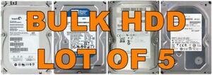 5 x 160GB 3.5 Internal PC SATA HDD Hard Disk Drive Seagate/WD/H.5pcs 5x BULK LOT