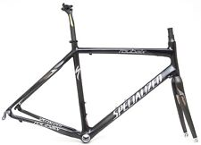 2009 Specialized Roubaix 700c Carbon Road Bike Frameset 56cm Black Zertz Race QR