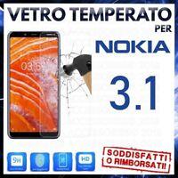 Pellicola in VETRO TEMPERATO per NOKIA 3.1 Proteggi Schermo Protezione Display