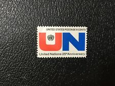 MNH USA UN United Nations 25th Anniversary Stamp, 6 Cent
