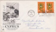 (K81-8) 1965 UN FDC 10c peace keeping Cyprus used (H)