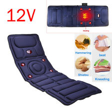 Massage Mattress Full Body Heated Massager Mat Remote Control Cushion Foldable