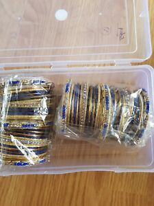 BRAND NEW NAVY INDIAN BANGLES