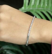 1 Ct Natural Rose cut Diamond Statement Bracelet Sterling Silver SDB 20