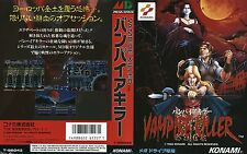 Vampire Killer Mega Drive JP japen NTSC-J remplacement Box Art Case Insert Cover