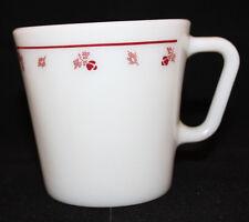Corning Corelle Pyrex Burgundy Rose Milk Glass Coffee Mug Cup 300ml USA Oven (B)