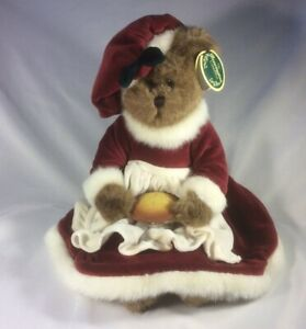 """Bearington Bears~""""Mrs. Claus"""" with Pie~16"""" Collectible Bear- 2004- Retired~New"""