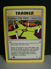 1st Edition Celadon City Gym Stadium #107/132 Gym Heroes Pokemon Card