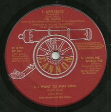 VARIOUS - CANNON EP016 1963 -THE SPARTANS, JOANNA BELL, JOAN BAXTER & HAL PRINCE