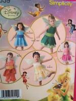 Simplicity Sewing Pattern 2559 Toddlers Disney Fairies Size 1/2-4 Uncut New