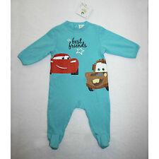 DISNEY BABY pyjama grenouillère bébé CARS bleu turquoise taille 6 mois NEUF