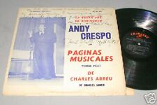 ANDY CRESPO LP AUTOGRAPHED BY CHARLES ABREU!
