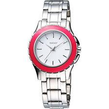 DKNY Ladies SilverToned Coral Bracelet Watch NY8792 NEW! Low Inter Shipping