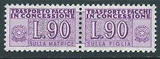1955-81 ITALIA PACCHI IN CONCESSIONE STELLE 90 LIRE MNH **