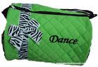 Dance Duffle Bag Bag Purple, Green, Turquoise, Pink and Black