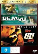 Déjà Vu  / Gone In 60 Seconds (DVD, 2008, 2-Disc Set) LIKE NEW