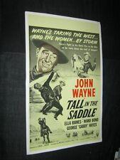 Benton Card Company TALL IN THE SADDLE JOHN WAYNE Window Card