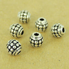 6 PCS 925 Sterling Silver Barrel Beads Vintage DIY Jewelry Making WSP480X6
