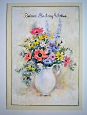 "VINTAGE ""BELATED BIRTHDAY WISHES."" GREETING CARD from the Coronation Collection"