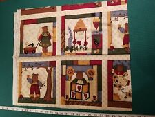 Leslie Beck Country at Heart Bee Keep Fair cheater blocks cotton quilting Fabric