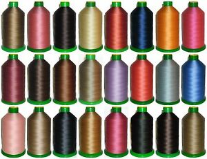STRONG BONDED NYLON THREAD 40'S, 3000MTRS, SOMABOND THREADS, ASSORTED COLOURS
