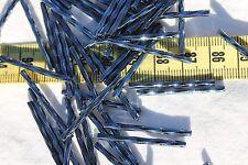 30mm Twisted Gunmetal Czech Glass Bugle Beads/50 grams