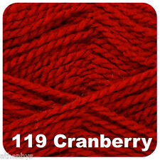 6 X 100g Balls King Cole Big Value Aran Acrylic Knitting Yarn Cranberry 119