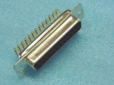 Lot x5 - connecteur SUB.D DB25 25pts femelle coudé à piquer 9.4mm pattes dorées