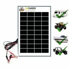 10W PORTABLE SOLAR TRICKLE BATTERY CHARGER-CAR RV MARINE ATV ALL 12V SYSTEM