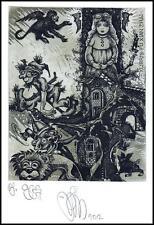 Agirba Ruslan 2012 Exlibris C3 Fairy Tale Alice in OZ Lion Dog Monkey Woman 331