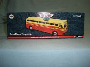 NIB Corgi Yellow Coach 743 Burlington Trailways to Chicago 1:50 Scale Diecast
