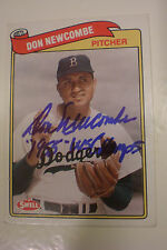Don Newcombe Brooklyn Dodgers SIGNED W/Insc 1989 Swell Baseball Greats #122 PSA