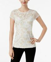 INC International Concepts Petite Embroidered Illusion To Bright White PM