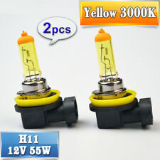 2X H11 Yellow Halogen Bulb 12V 55W 3000K Auto Lamp Quartz Glass Car Fog Light