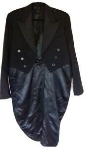 Men's wool tuxedo tailcoat size L