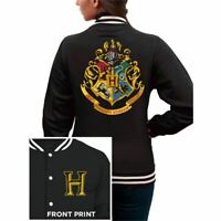 Womens Harry Potter Hogwarts School Crest College Jacket - Ladies Varsity Logo
