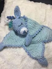 Schmusetuch Blue Donkey Amigurumi gehäkelt Baby Handarbeit Baumwolle
