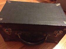 OLD Antique Vintage Camera Box Case LAUB Bros Kentucky 709 Black Handle Leather