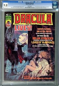Dracula Lives  #5  CGC  9.8  White pages (CGC label is incorrect states it's #1)